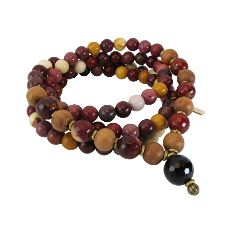 "Necklaces - Mookaite ""Eternal Youth And Adventure"" 108 Bead Wrap Mala"