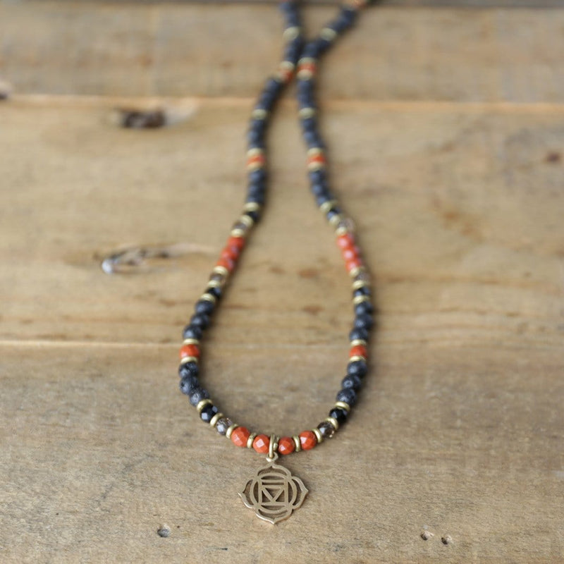 Necklaces - Root Chakra Aromatherapy Necklace