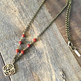 Necklaces - Root Chakra Gemstone Delicate Necklace