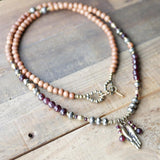 Necklaces - Sandalwood And Garnet 108 Bead Mala Necklace - Love And Perseverance