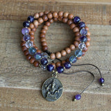 Necklaces - Sandalwood Crown Chakra Mala Necklace