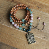 Necklaces - Sandalwood Heart Chakra Mala Necklace