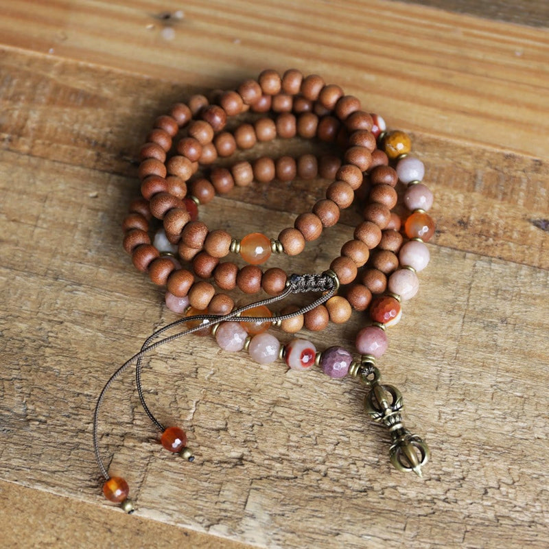 Necklaces - Sandalwood Sacral Chakra Mala Necklace