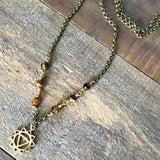 Necklaces - Solar Plexus Chakra Gemstone Delicate Necklace