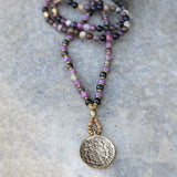 Necklaces - Tourmaline And Lepidolite Mala Necklace