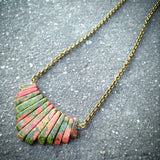 Necklaces - Unakite Chain Necklace