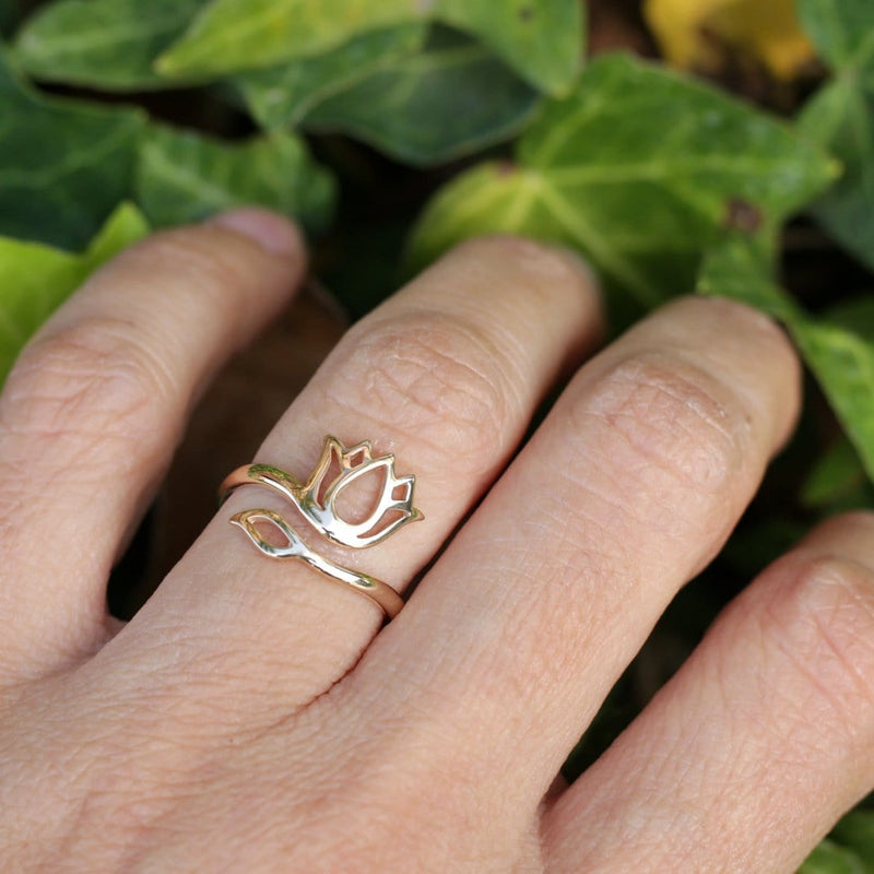 Ring - Lotus Ring, Adjustable Bronze Ring