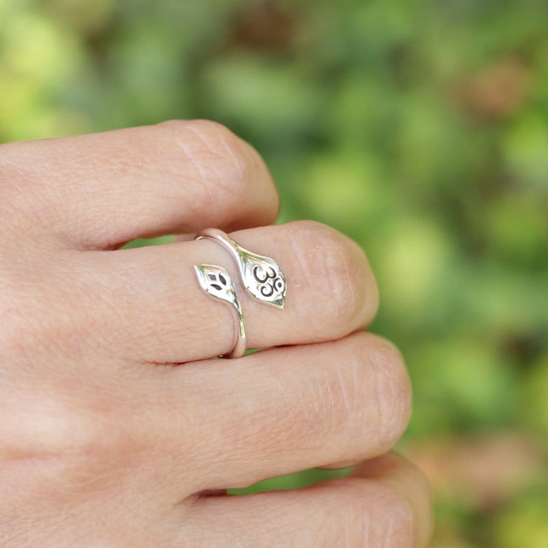 Ring - Om Ring, Adjustable Sterling Silver Om Ring