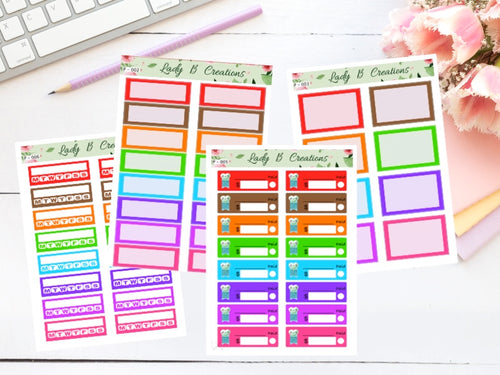 Bright Planner Sheets