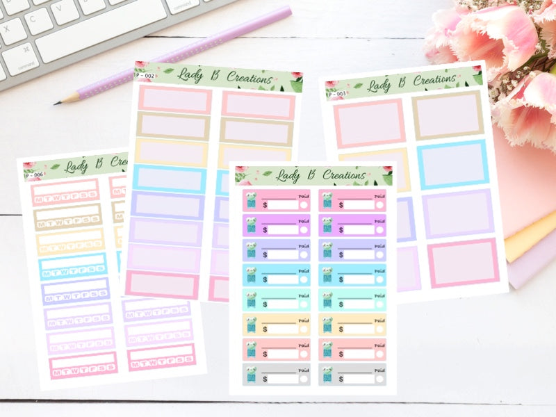 Pastel Planner Sheets