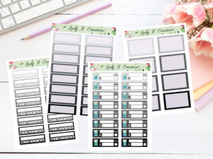 Monochrome Planner Sheets