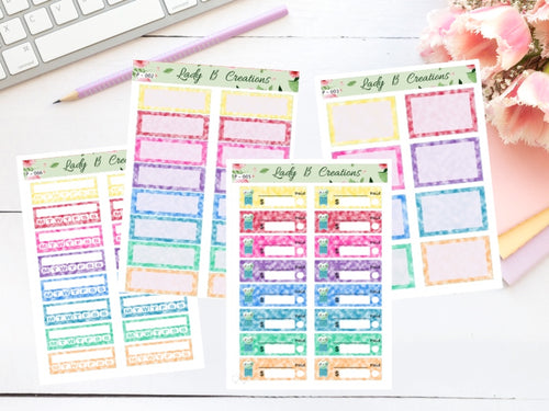 Unicorn Planner Sheets