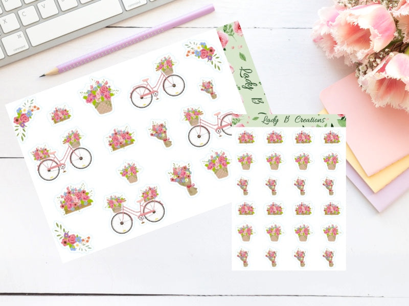 Decorative - Floral Bicycle Pack