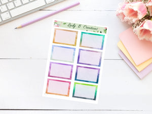 Water Colour Functional Sheet(s)