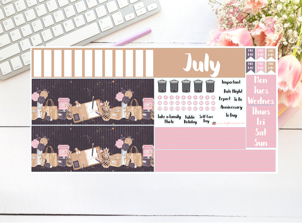 Hobonichi - Monthly Kit - Girl Boss Floral (you choose the month)