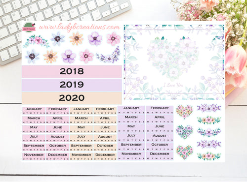 Hobonichi - Year Page Kit - Floral Flowers