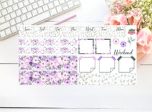 Hobonichi - Weekly Kit - Purple Floral Flowers