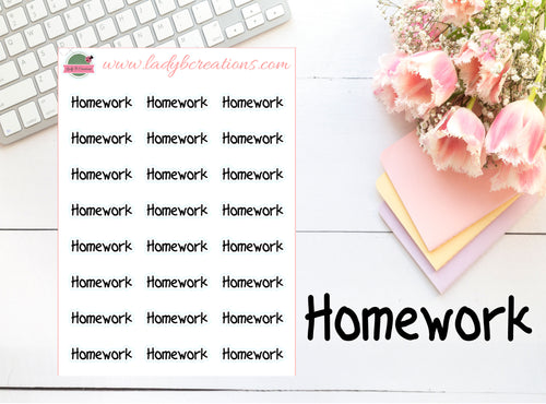 Education - Scripted Text - Homework