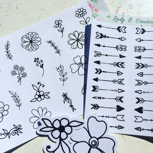 Flowers and Arrows - LIMITED TIME comes with 2 FREE die-cuts