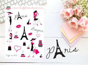 Decorative - Paris (Black and Pink)