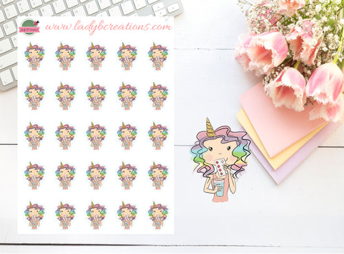 Unicorn Planner Girl - Tablets - Take My Pills Reminder