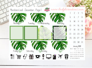 Monthly Kit - Monstera Leaf  - Build Your Own - Leanne Baker Daily & HPC
