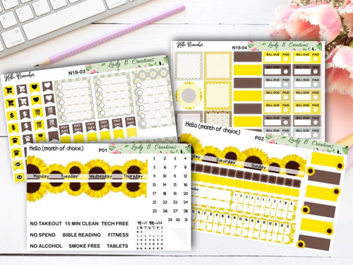 Sunflowers - Build Your Own - Monthly Kit for Leanne Baker Daily