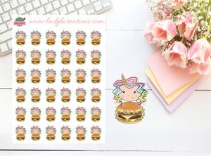 Unicorn Planner Girl - Burger - Eating Out & Takeaway