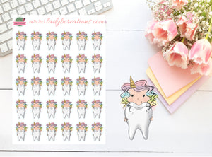Unicorn Planner Girl - Dentist Appointment - Tooth