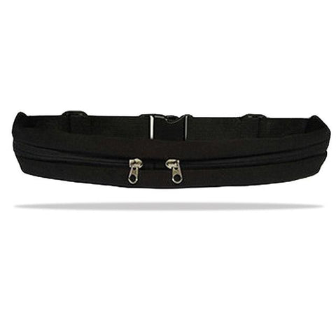 Image of Single or Dual Pocket Running Belt with Adjustable Waist