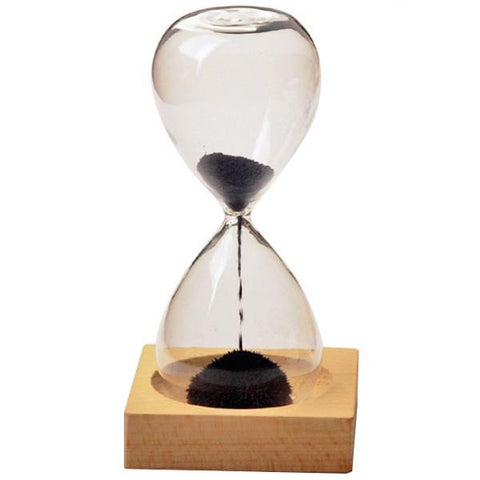 Hourglass with magnetic sand