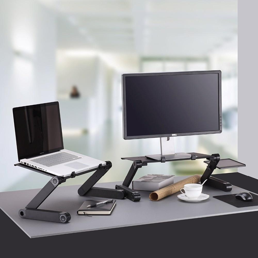Adjustable Laptop Desk on Desk