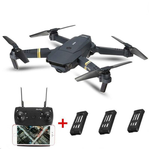 Image of X-Wing Foldable Quadcopter Drone with 3 batteries
