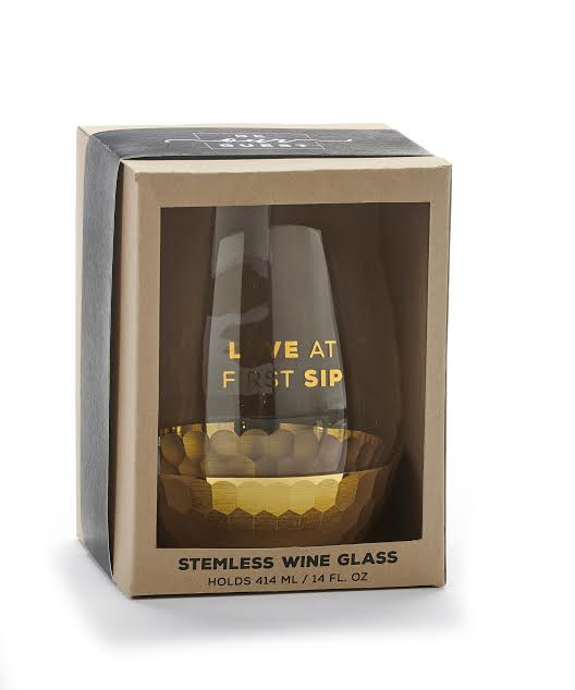 Stemless Wine Glass - Love At First Sip