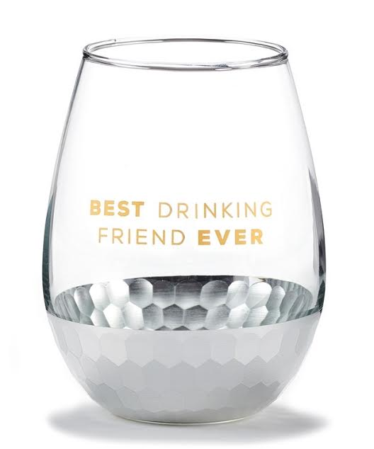 Stemless Wine Glass - Best Drinking Friend Ever