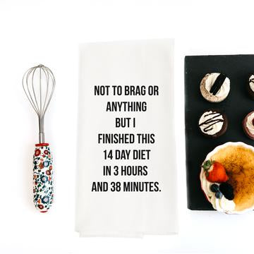 14 Day Diet Snarky Dish Towel