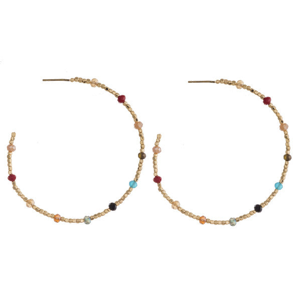 Beaded Drop Hoop