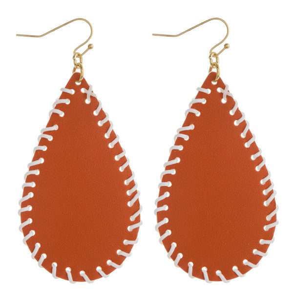 Faux Leather Teardrops