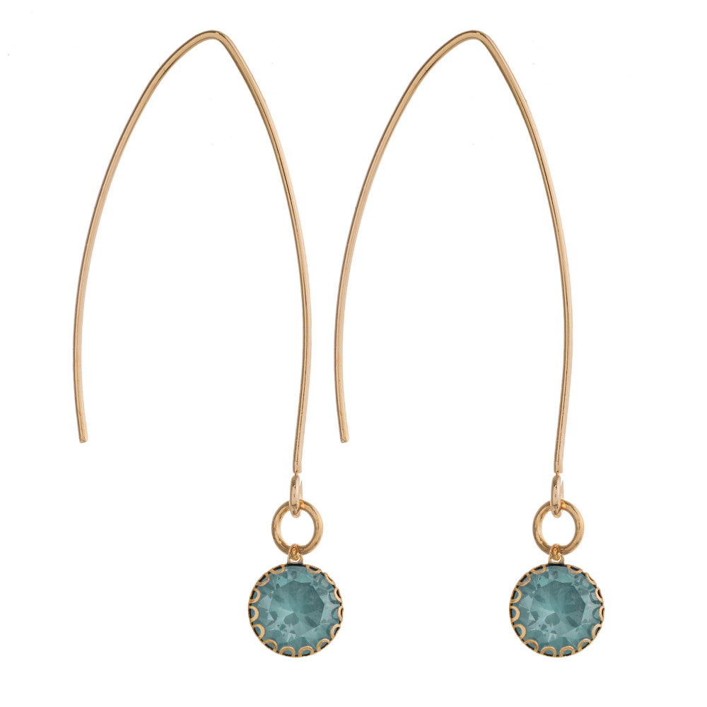 Turquoise Threaded Drop Earrings