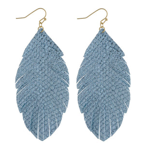 Metallic Feather Dangles