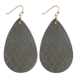 Geometric Teardrop Earrings