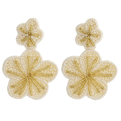 Beaded Flower Dangles