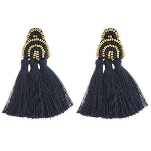 Beaded Fan Tassel Dangles