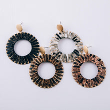 Snakeskin Open Hoops