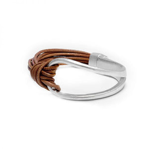 Camel Leather infinity bracelet