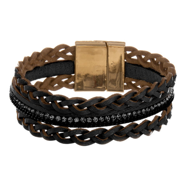 Leather Multi String Bracelet