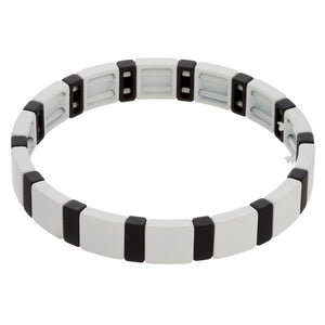 Black & White Tile Bracelet