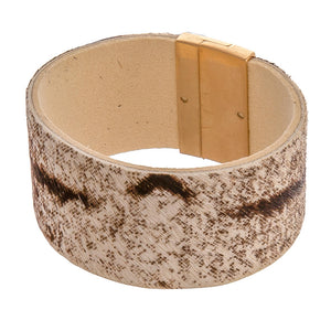 Light Leather Print Cuff