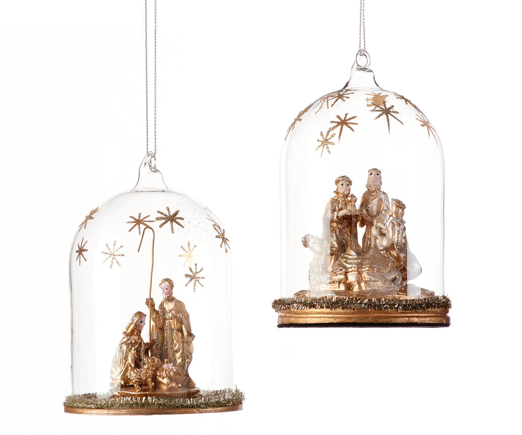 Holy Family Cloche Ornament