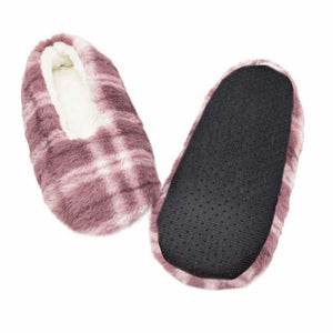 Pink Plaid Sherpa Slippers